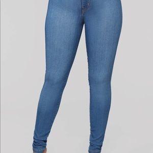 "Fashion nova ""classic"" light blue jeans"